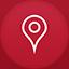 Maps flat circle Icon
