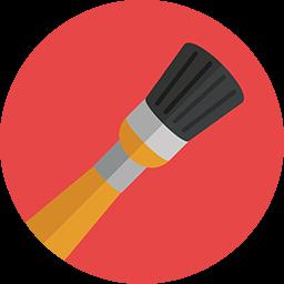 Medium Brush Icon Download Flat Round Icons Iconspedia