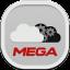 Mega Flat Round Icon