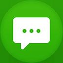 Messages flat circle-128