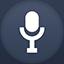 Mic flat circle icon