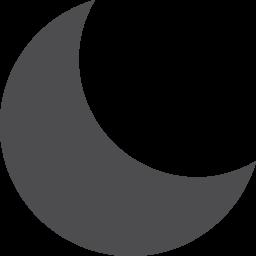 Moon Fill Vector