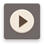 Movies flat brown icon