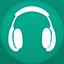 Music flat circle icon