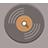 Music Record flat brown-48