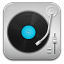 Music Record Player Blue icon