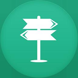 Navigation flat circle