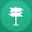 Navigation flat circle icon