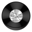Network Black Drive Circle icon