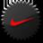 Nike black logo icon