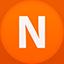 Nimbuzz flat circle icon