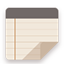 Notes flat brown Icon