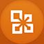 Office flat circle icon