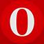 Opera flat circle icon