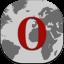 Opera Flat Round icon