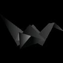 Origami Bird Black-128
