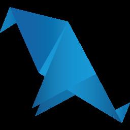 Origami Bird Blue