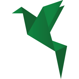 Origami Bird Green