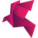 Origami Bird Red Alt-128