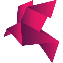 Origami Bird Red Alt