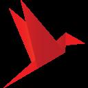 Origami Bird Red-128