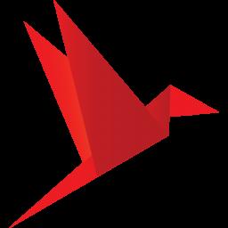 Origami Bird Red