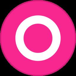 Orkut Round With Border