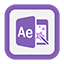 Outline AfterEffects Icon