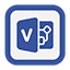 Outline Visio icon
