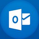 Outlook flat circle-128