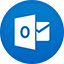Outlook flat circle icon
