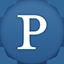 Pandora flat circle icon