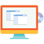 PC flat icon