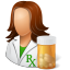 Pharmacist Female Icon