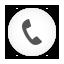 Phone Dial white round Icon