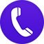 Phone flat circle Icon