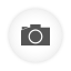 Photo Camera white round icon