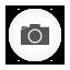 Photo Camera white round Icon
