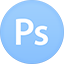 Photoshop flat circle icon