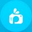 Picsart flat circle icon