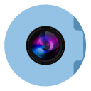 Pictures Folder Circle-128