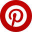 Pinterest flat circle icon