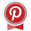Pinterest Round Ribbon Icon