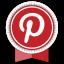Pinterest Round Ribbon Icon
