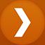 Plex flat circle icon