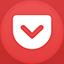 Pocket flat circle icon