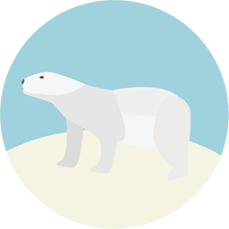Polar Bear Icon Download Flat Round Icons Iconspedia
