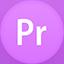 Premiere flat circle icon