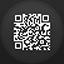 Qr Code flat circle icon