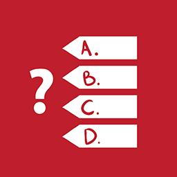 Quiz Games red
